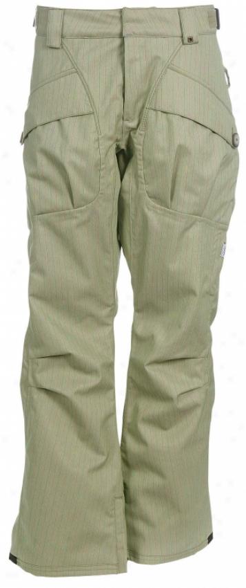 Vans Blanchett Insulated Snowboard Pants Urchin Green/butter