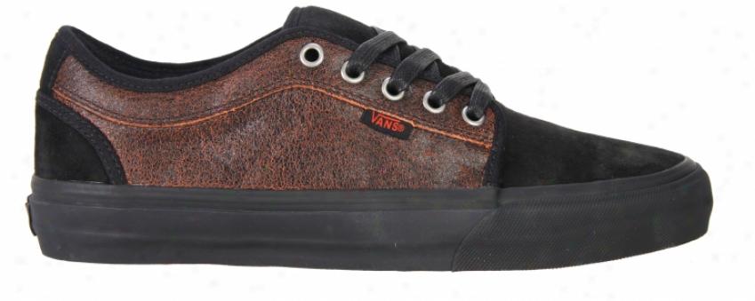 Vans Chukka Bel~ Skate Shoes Black/orange