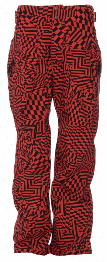 Vane Grunt Insulated Snowboard Pants Remedy Orange Blow Up