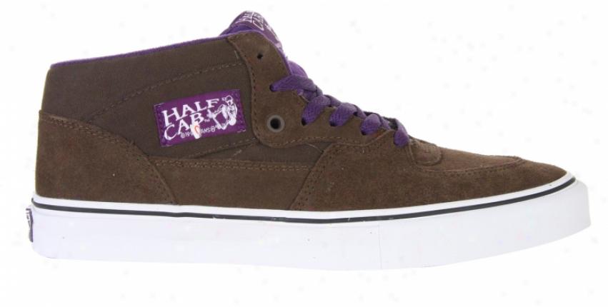 Vans Half Cab Pro Skate Shoes Dark Brown/royal Purple