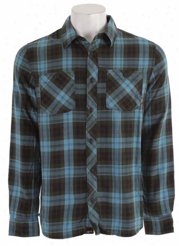 Vans Marr Flannel Shirt Adriatic Blue