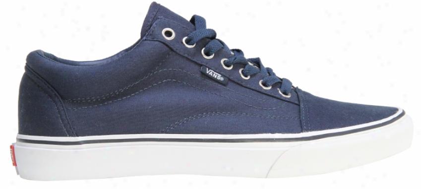 Vans Old Skool Skate Shoes (canvas) Dress Blues/true White