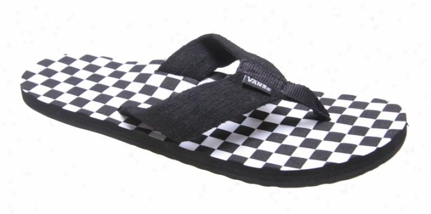 Vans Thresher Sandals Black/white Check