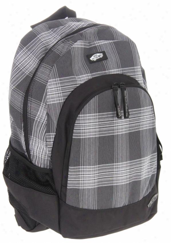 Vans Van Doren Backpacm White/black Plaid