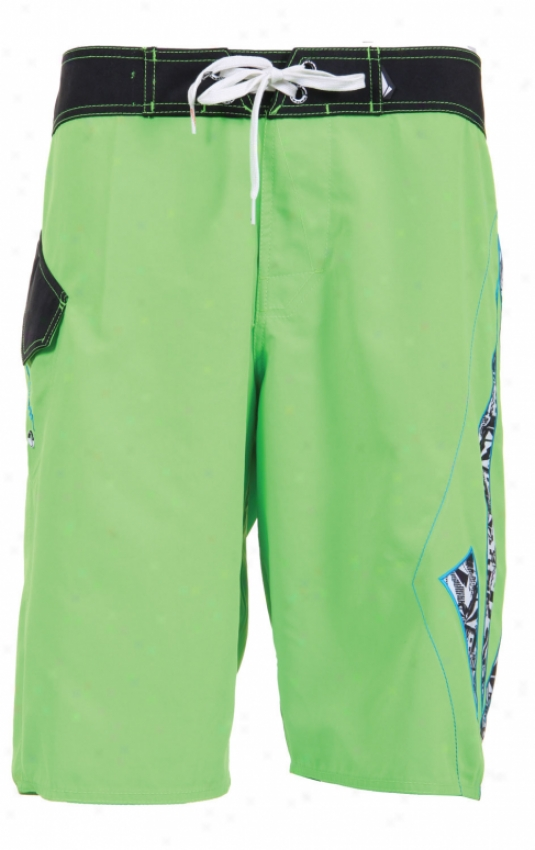Volcom Foster Solid Too Mod Boardshorts Electric Green