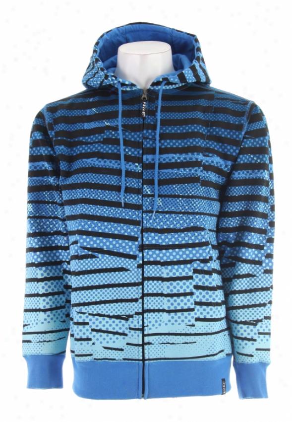 Volcom Jagged Stripe Hoodie Blue