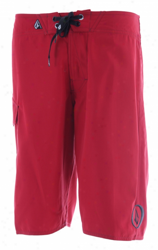 """Volcom Maguro Solid Mod 22"""" Boardshorts Red"""