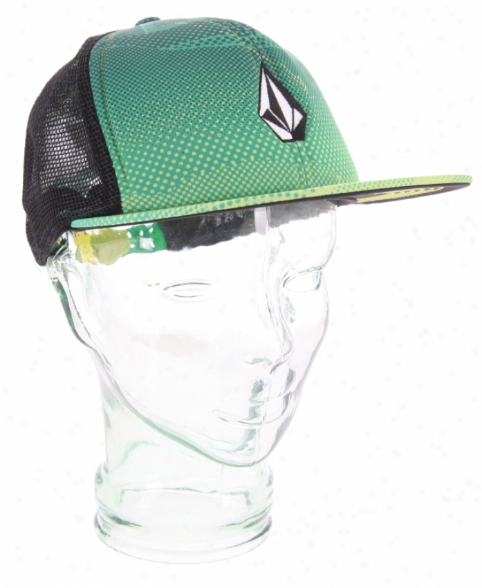 Volcom Printed Grave~ Cheese Hat Lime