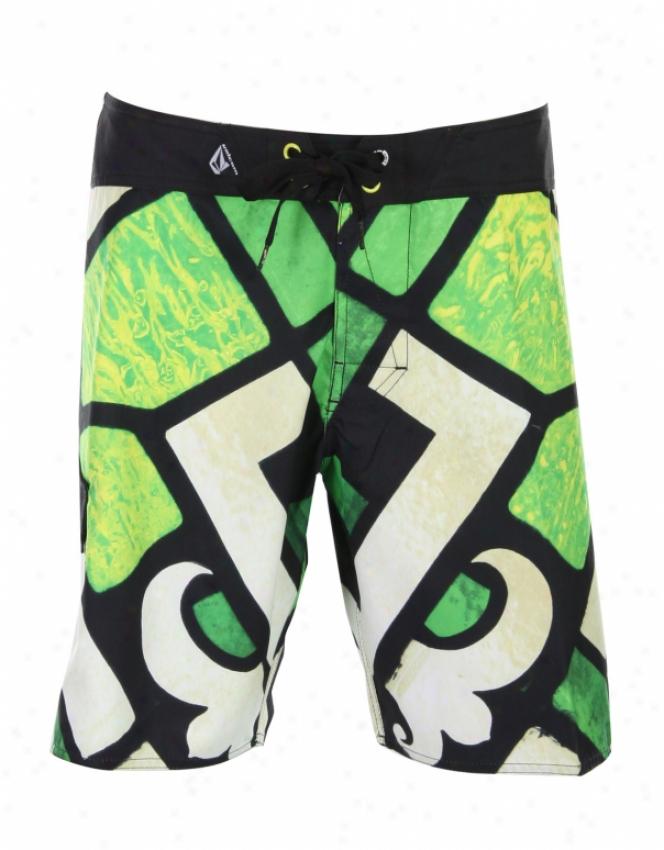 Volcom Qvb Mod Boardshorts Lime