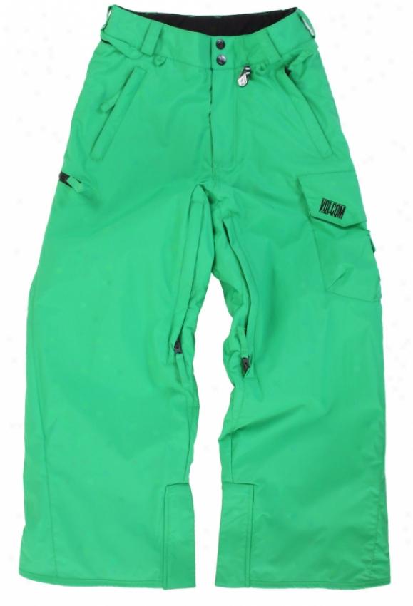 Volcom Raider Insulated Snowboard Pants Green