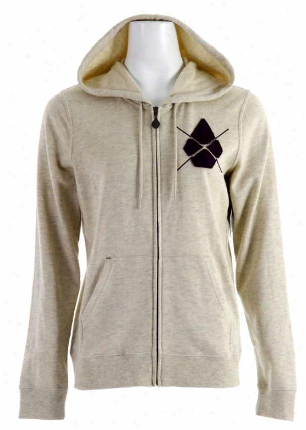 Volcom Yae Standard Zip Hoodie Natural Heather
