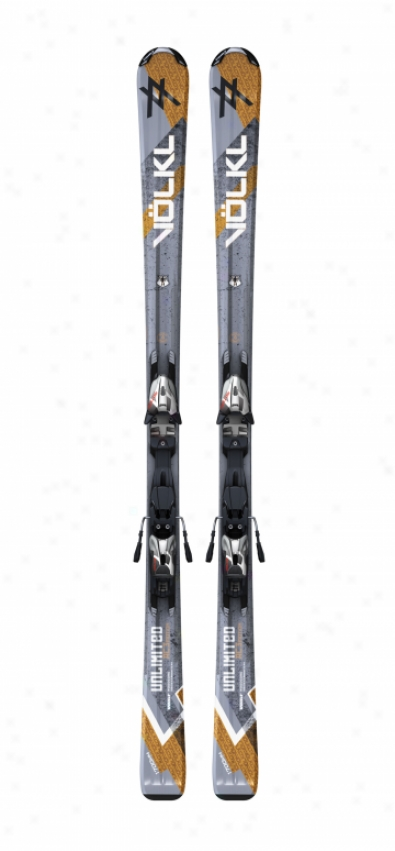 Volkl Unlimited Ac Skis W/ Motion Tt 10.0 D Bindings Sil/blk