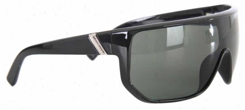Vonzipper Bionacle Limited Sunglasses Black Gloss/grey Lens