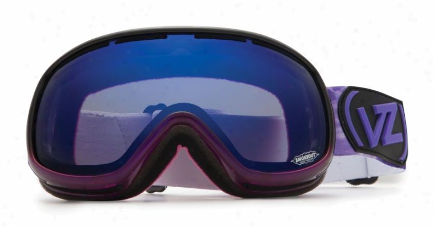 Vonzipper Chakra Snowboard Goggles Purple Erkel/astro Chrome Lens