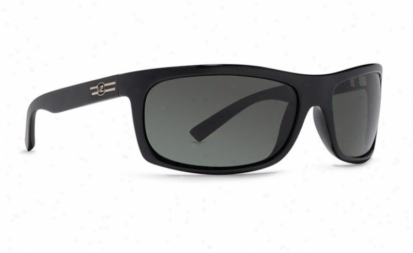 Vonzkpper Conman Sunglasses Negro Satin/grey Lens