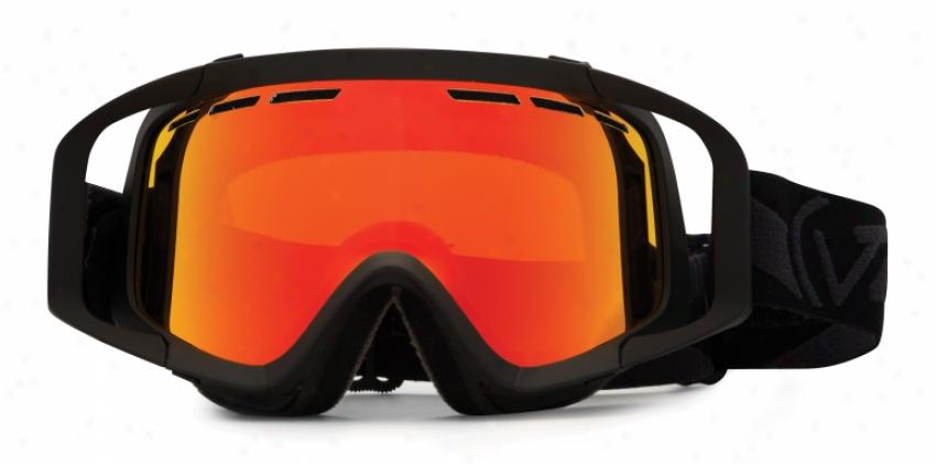 Vonzipper Porkchop Snowboard Goggles Blackout Satin/fire Chrome Lens