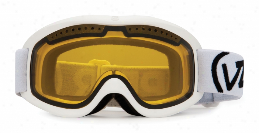 Vonzipper Sizzle Project Flatlight Snowboard Goggles White Gloss/yellow Lens