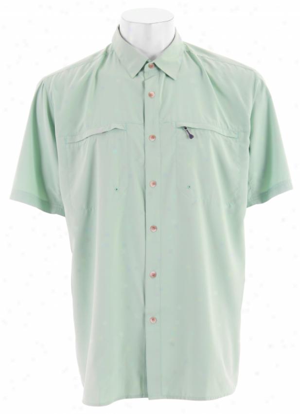 White Sierra Kalgoorlie Shirt Spruce Green