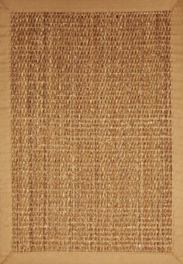 10' X 14' Area Rug With Non Slip Backing And Tan Border