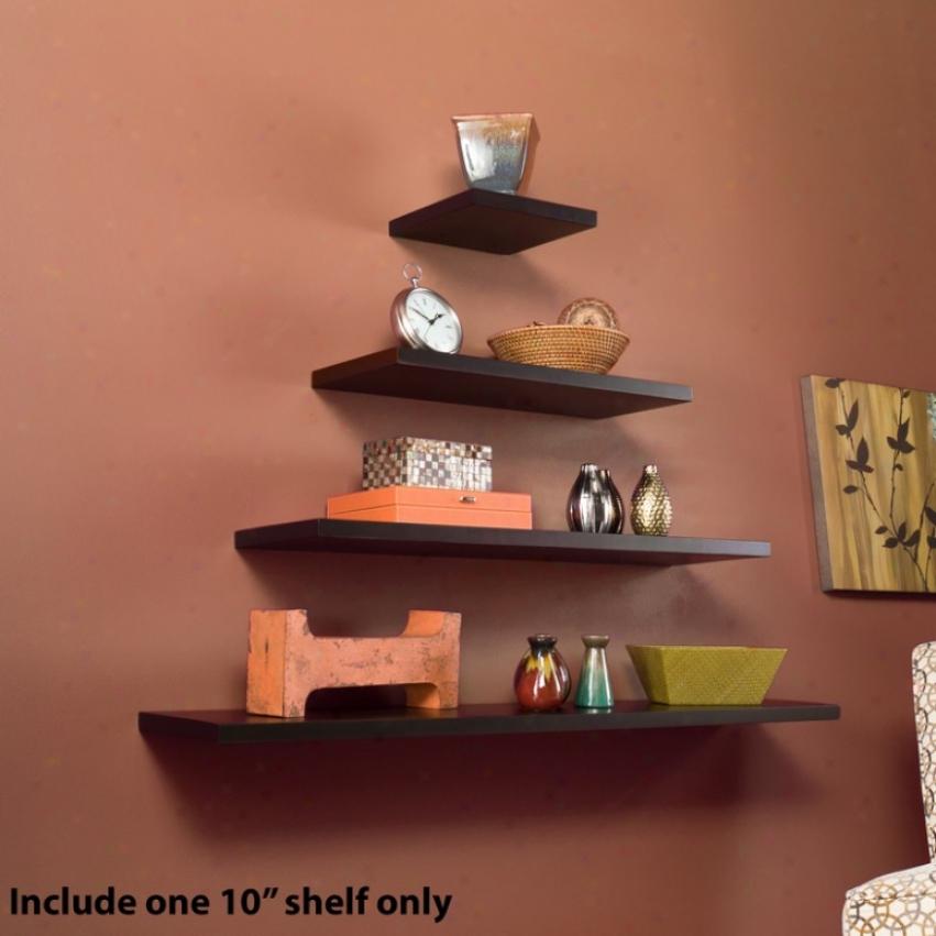 10&quot Languish Floating Wall Shelf In Espresso Finish
