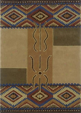 1'10&quot X 2'10&quot Area Rug Transitional Style In Camel And Rust