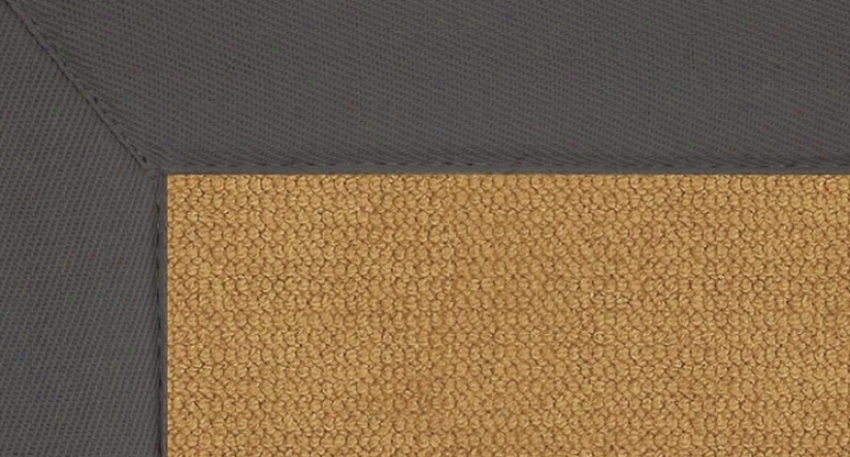 1'10&quot X 2'10&quot Cork Wool Rug - Athena Give  Tufted Rug With Slate Border