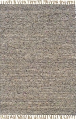 1'10&quot X 2'10&quot Hand Woven Area Rug Boucle Appearance In Dark And Natural