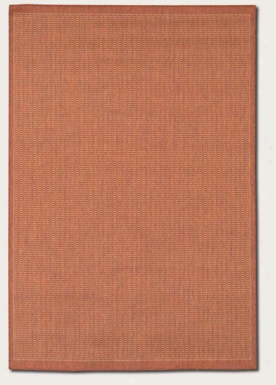 2' X 3'7&quot Region Rug Contemporary Title In Terra-cotta Color