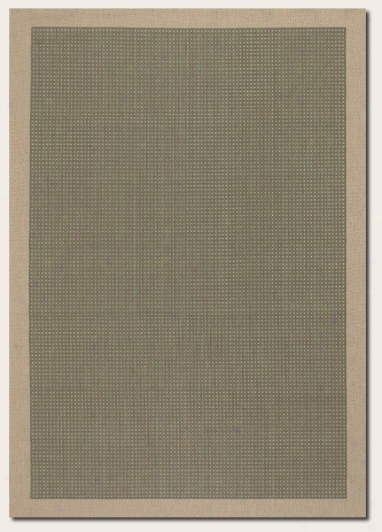 2' X 3'7&quot Area Rug Dotted Pattern With Choice part Border In Green Color