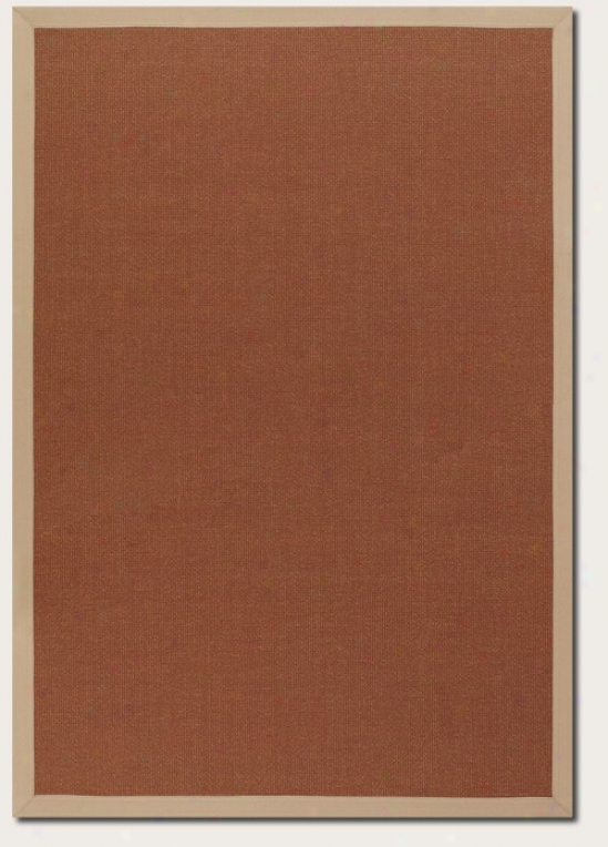 2' X 3'7&quot Arew Rug With Border In Gold Terra-cotta Color
