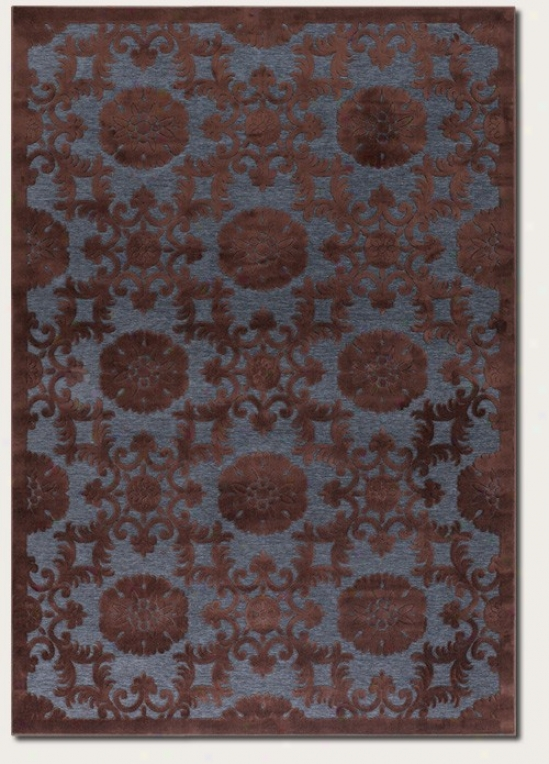 2'11&quot X 7'6&quot Runner Area Rug Medallion Pattern In Brown Ajd Blue