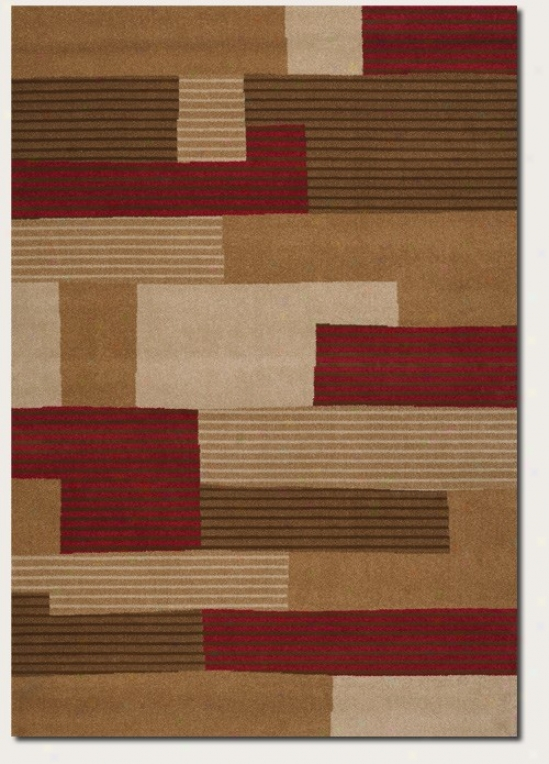 2'2&quot X 4'2&quot Area Rug Cojtemporary Style In Red And Beige