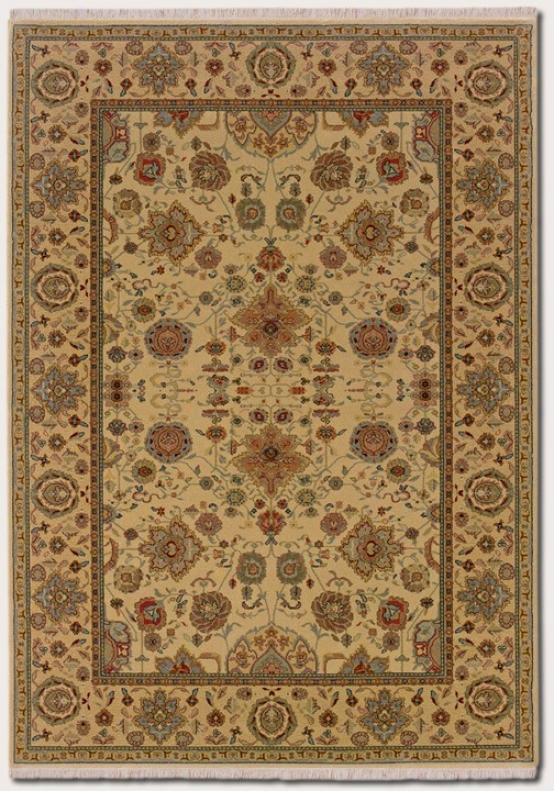 2'2&quot X 4'8&quot Area Rug Classic Persian Design In Autumn Wheat