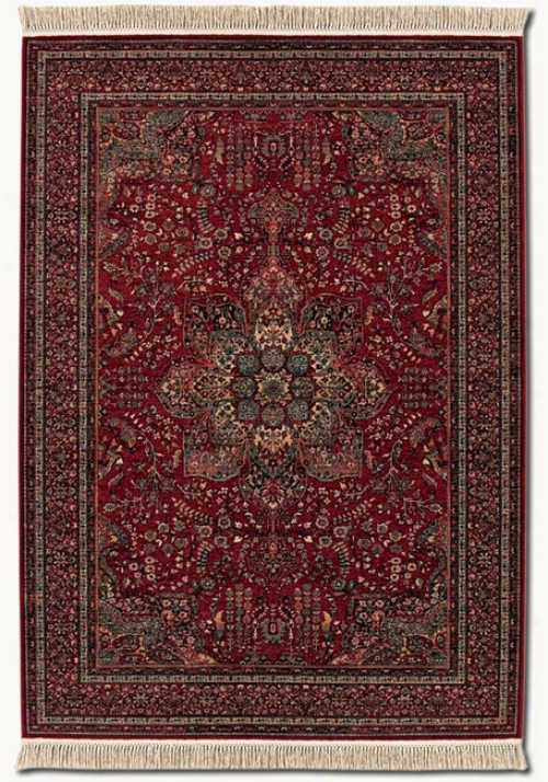 2'2&quot X 4'9&quot Kashimar Medallion Red Classic Persian Design Area Rug