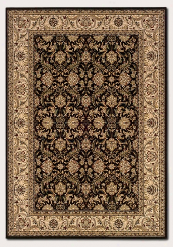 2'2&quot X 7'6&quot Runner Area Rug Classic Persian Pattern In Black And Crã¸me