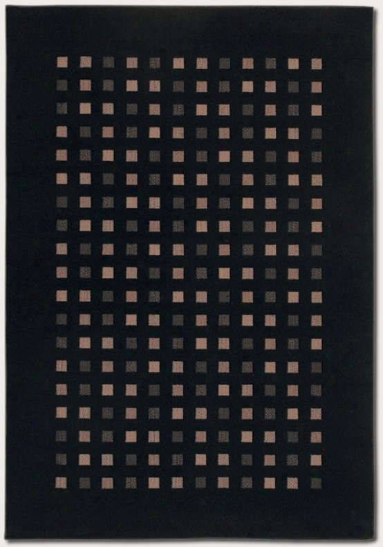 2'2&quot X 7'6&quot Runner Area Rug Contemporary Style In Black Color