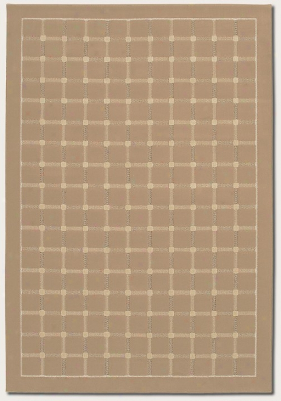 2'2&quot X 7'6&quot Runner Area Rug Grid Pattern In Sahara Tan Color