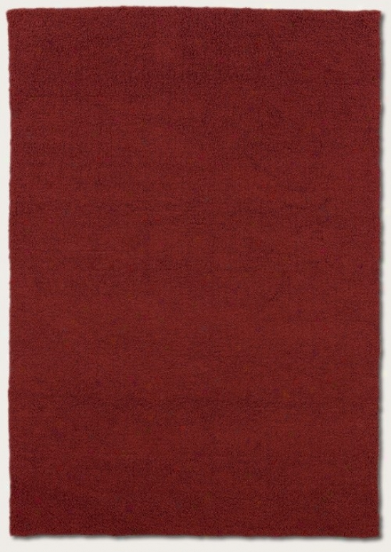 2'2&quot X 7'9&quot Messenger Area Rug Contemporary Style In Red Miso Color