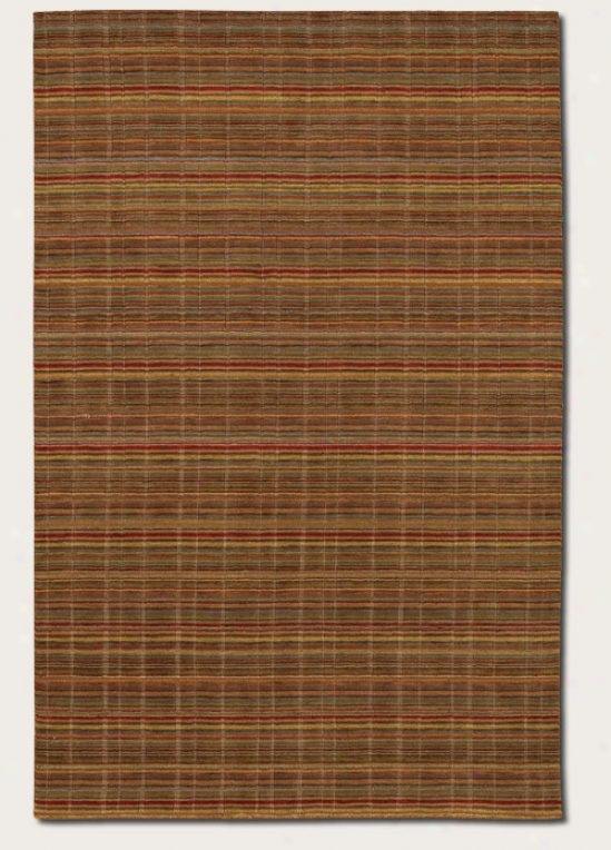 2'2&quot X 7'9&quot Runner Area Rug Striped Pattern In Mocha And Red
