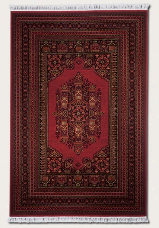 2'2&quot X 9'2&quot Messenger Area Rug Persian Pattern In Burgundy