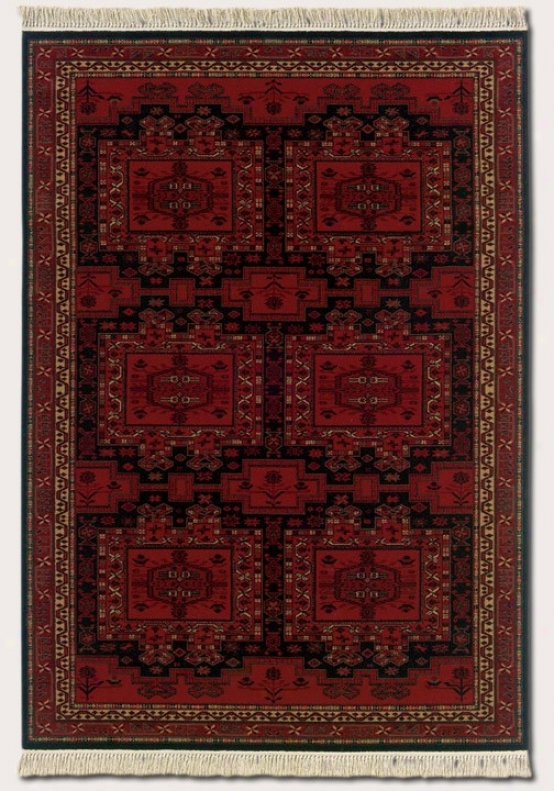 2'2&quot X 9'3&quot Runner Area Rug Classic Persian Pattern In Brick Red