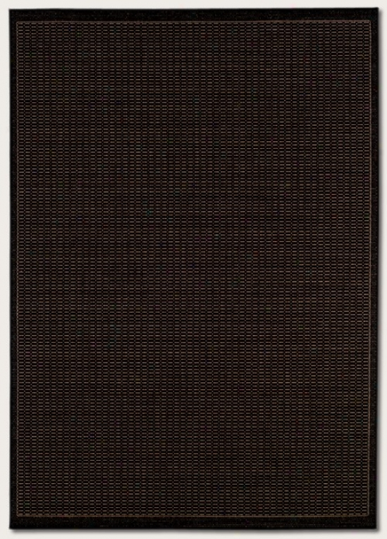 2'3&quot X 11'9&quot Runner Area Rug Contemporary Style In Black And Cocoa Color