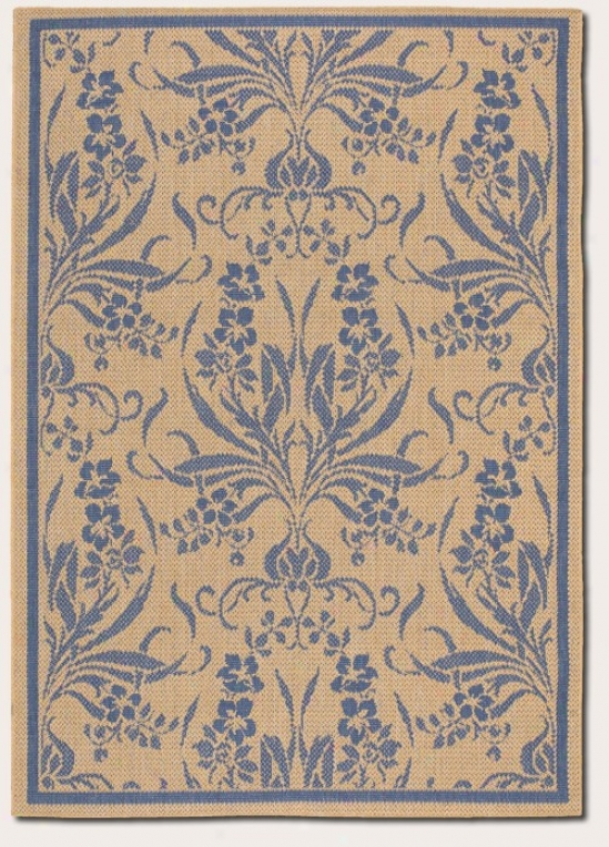 2'3&quot X 11'9&quot Runner Area Rug Tapesrty Pattern In Blue And Natural