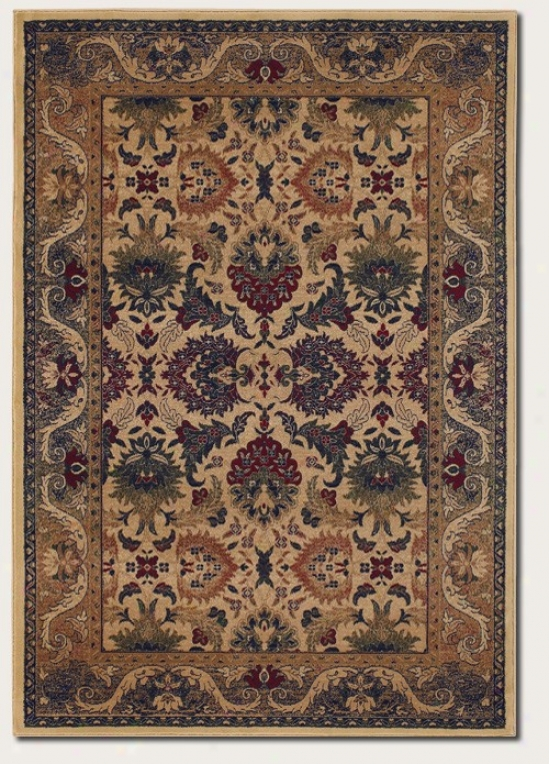 2'2&quot X 3'3&quot Area Rug Persian Floraal Pattern In Cream And Sage