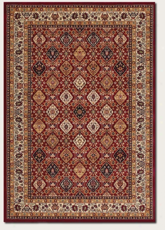 2'3&quot X 3'3&quot Area Rug Persian Floral Pattern In Red