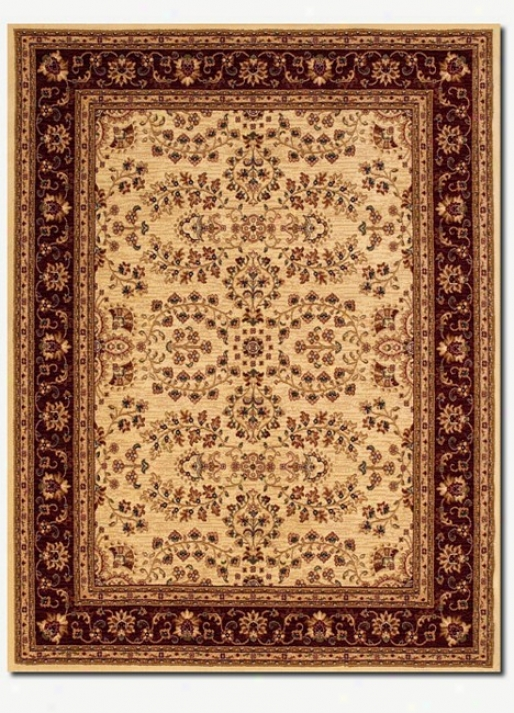 2'3&quot X 3'3&quot Traditional Persian Floral Motifs Cream Arew Rug