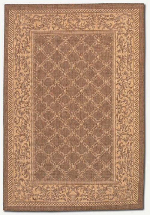 2'3&quot X 7'10&quot Garden Lagtice Codoa Natural Indoor/outdoor Runner Area Rug