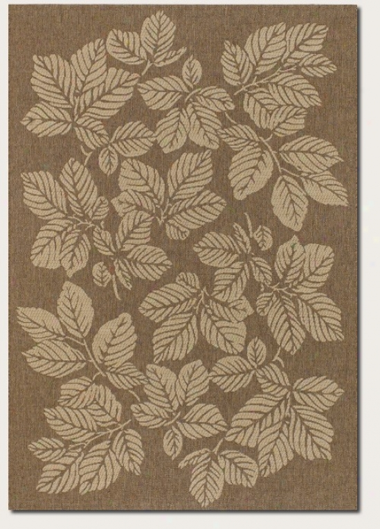 2'3&quot X 7'10&quot Runner Areq Rug Fall Leaf Psttern In Gold And Cream