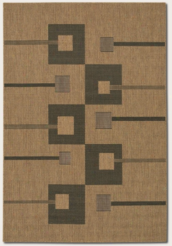 2'3&quot X 7'10&quot Runber Area Rug Contemporary Style In Natural And Black
