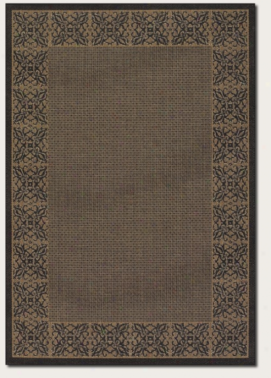 2'3&quot X 7'10&quot Runner Area Rug Floral Pattern Border In Cocoa And Wicked
